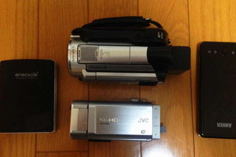 ビデオカメラをモバイルバッテリーで充電